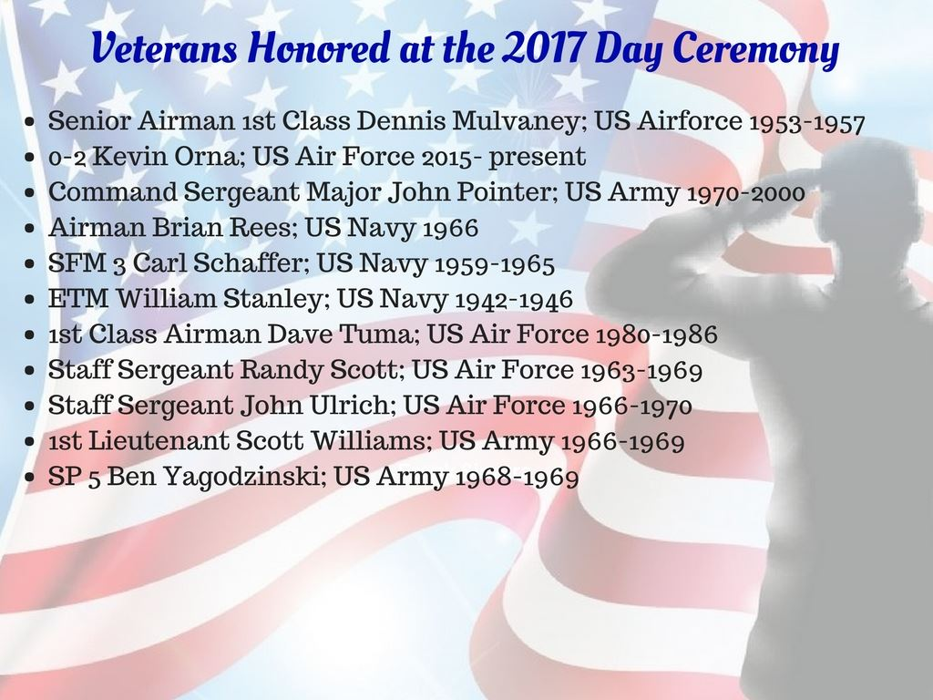 Veterans Day Recognition page 2
