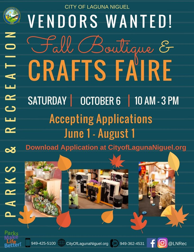 Craft Faire - Vendors Wanted Flyer