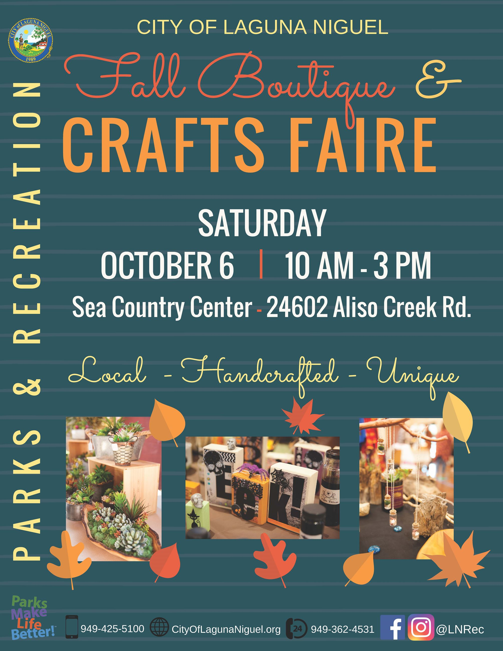 Crafts Faire Flyer 2018