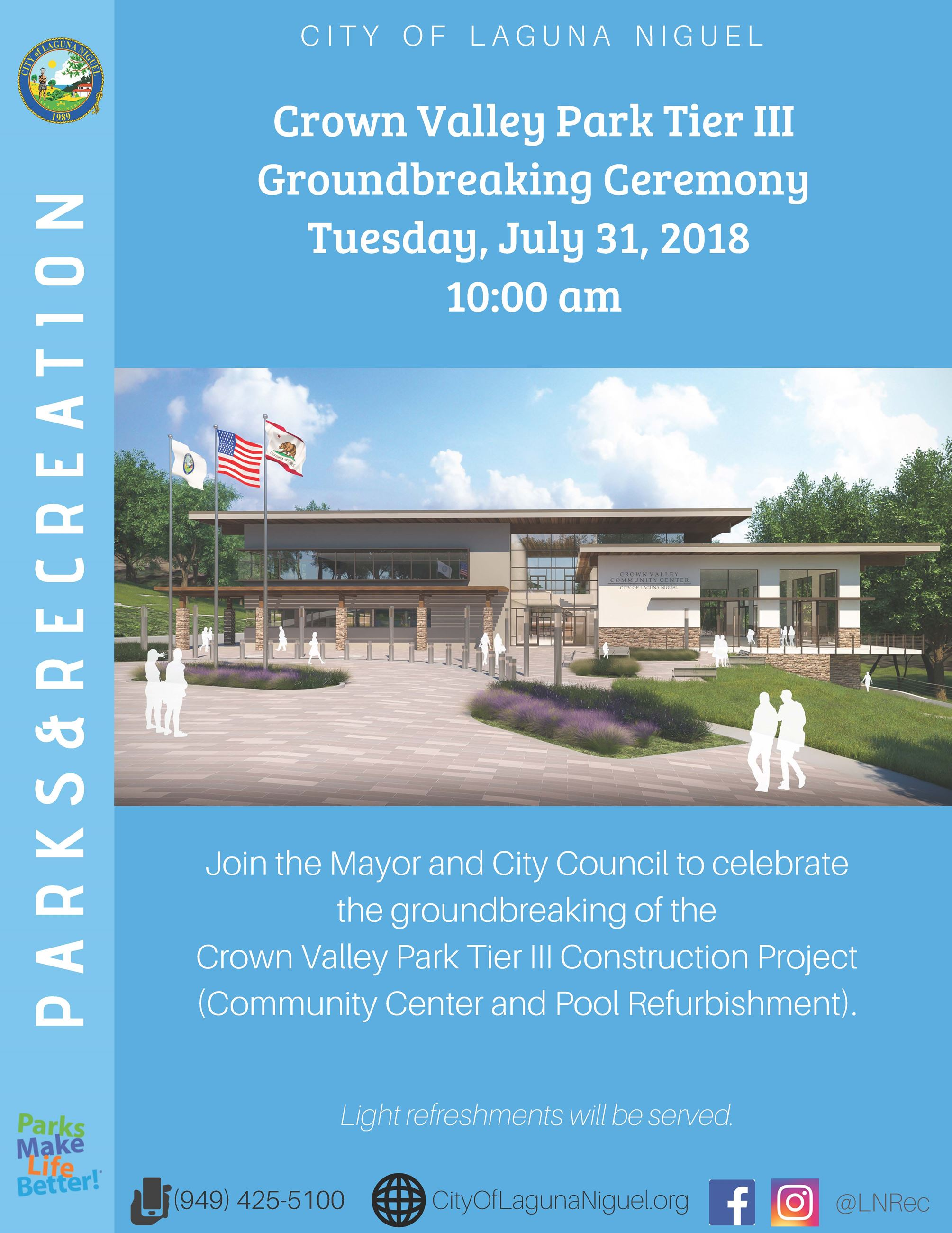 CVP Tier III Groundbreaking Ceremony
