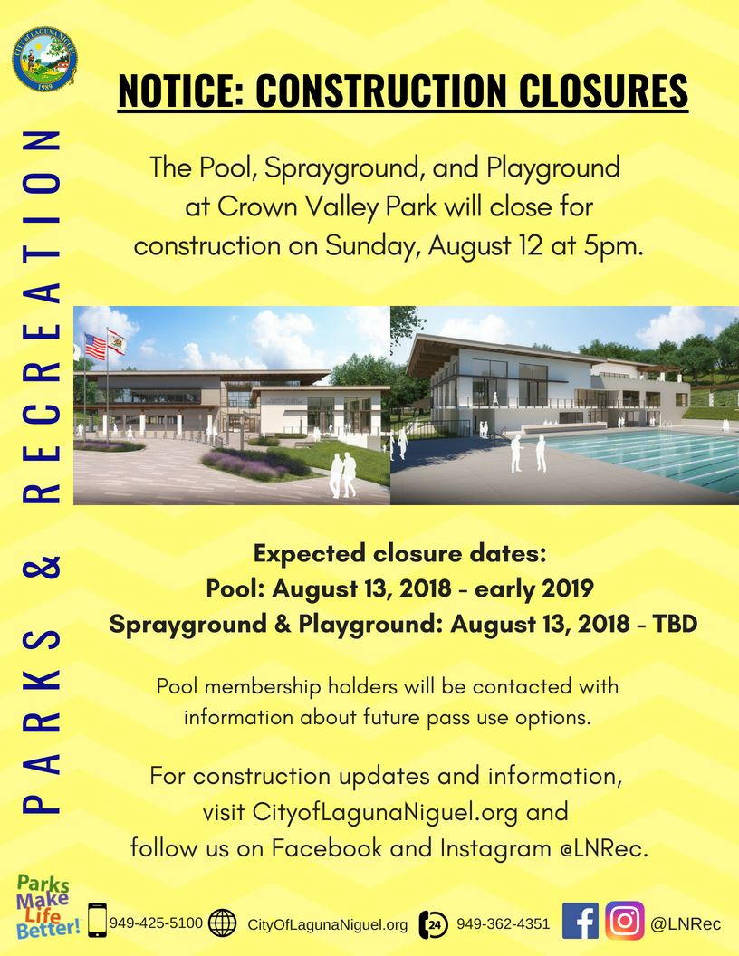 Pool Closure Flyer