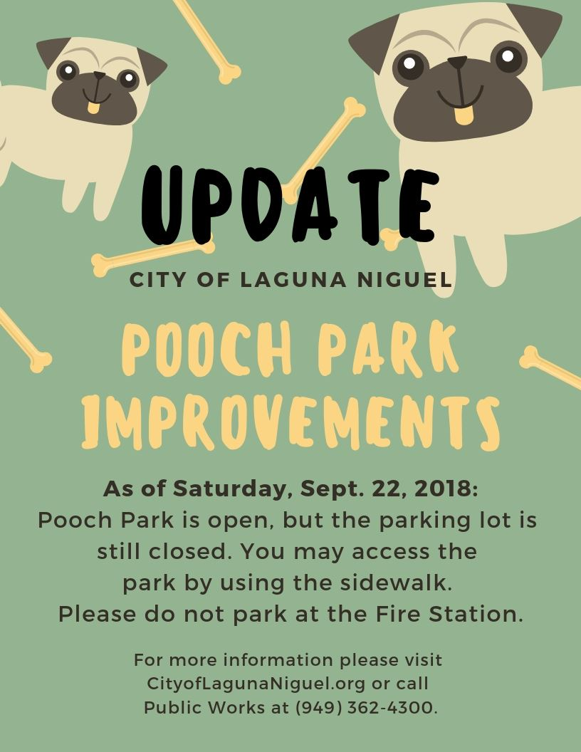 Pooch Park Closure - Update