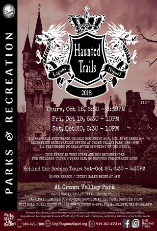 Haunted Trails Flyer 2018 Event Information