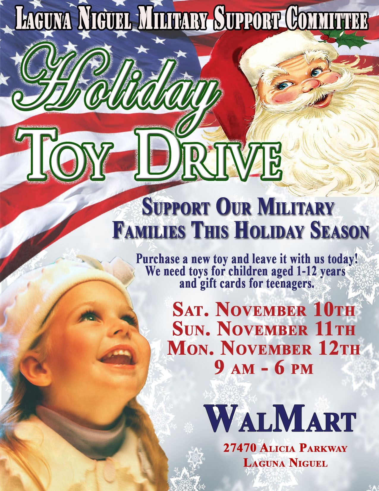 Holiday Toy Drive Flyer 2018