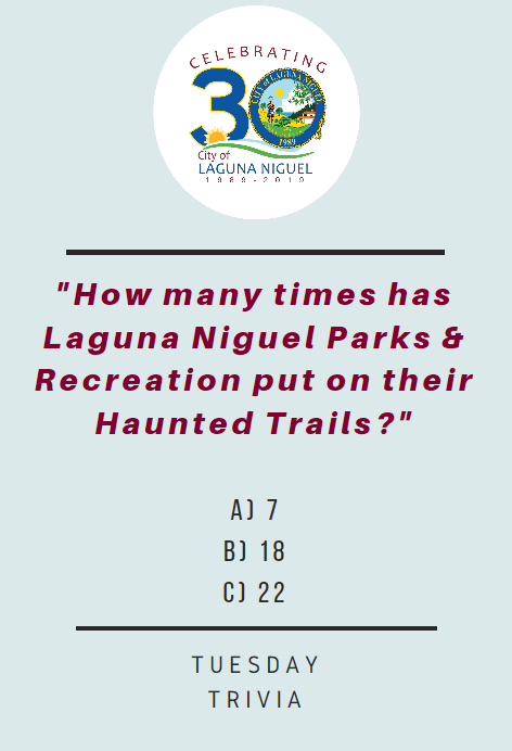 How many times as Parks and Rec put on the Haunted Trails1