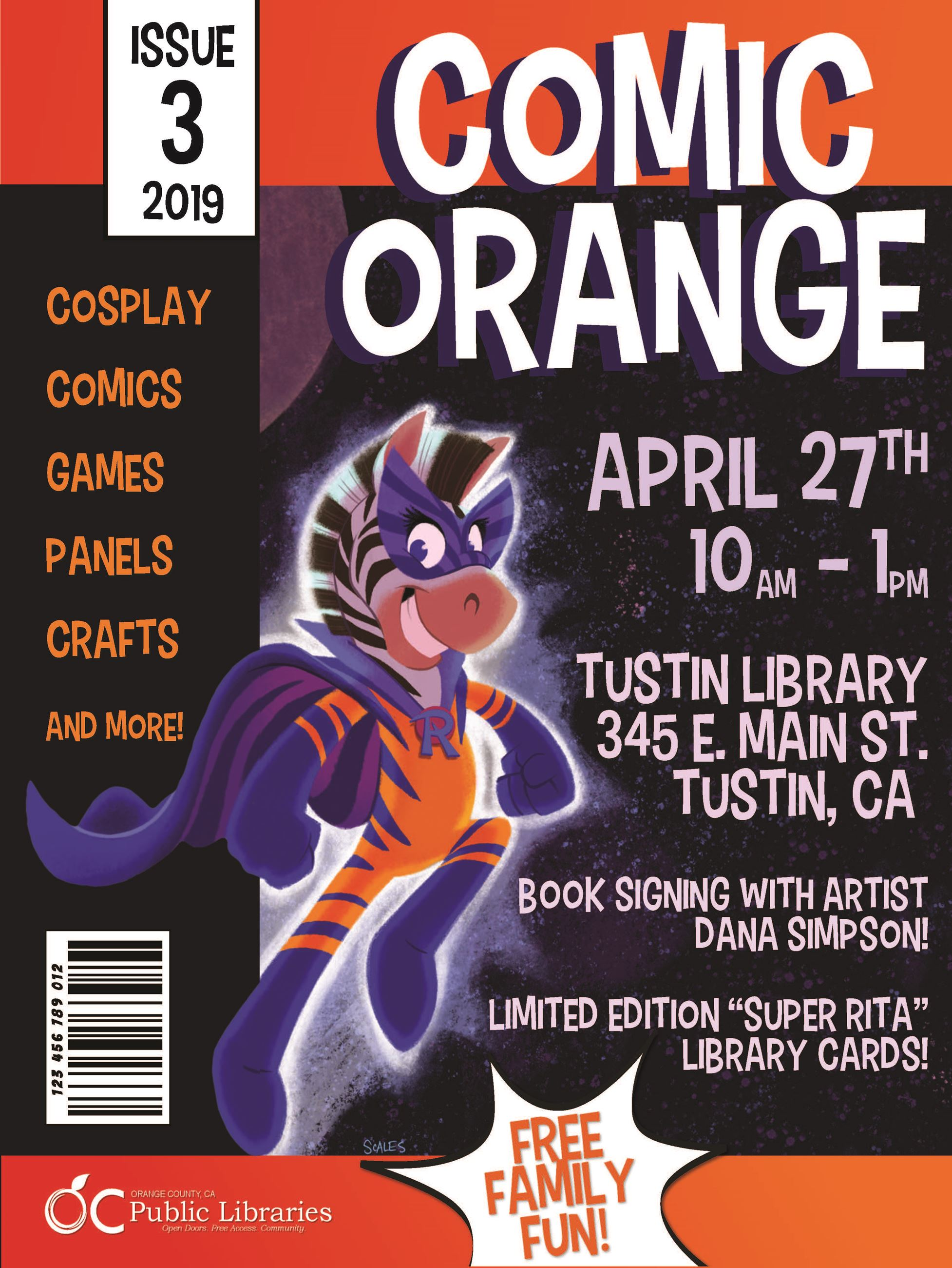 Comic Orange Flyer