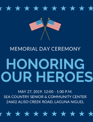 Memorial Day Ceremony graphic for news carousel