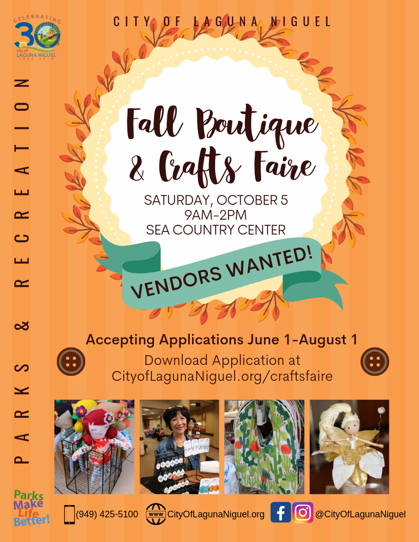 Crafts Faire_ Vendors Wanted 2019
