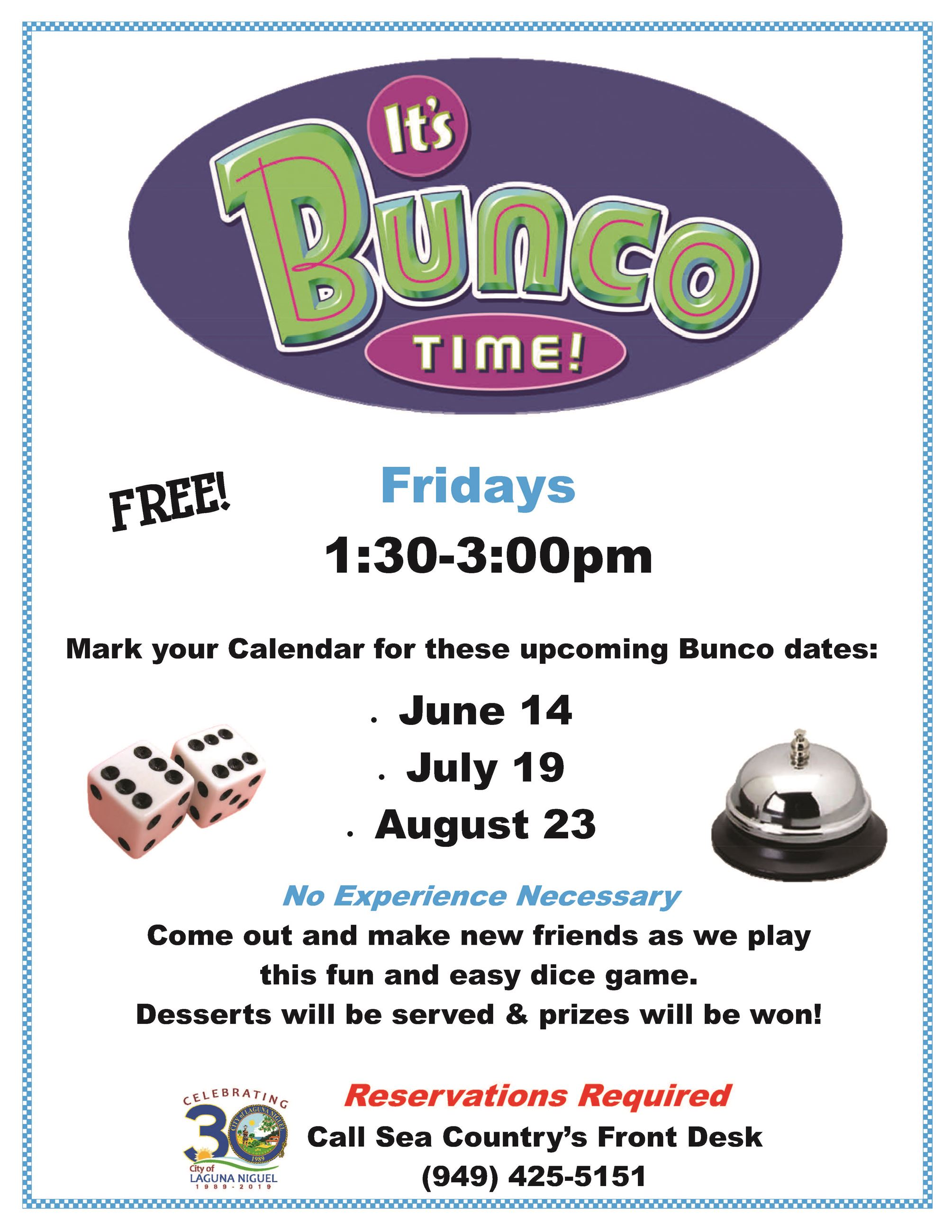 Bunco Summer 2019