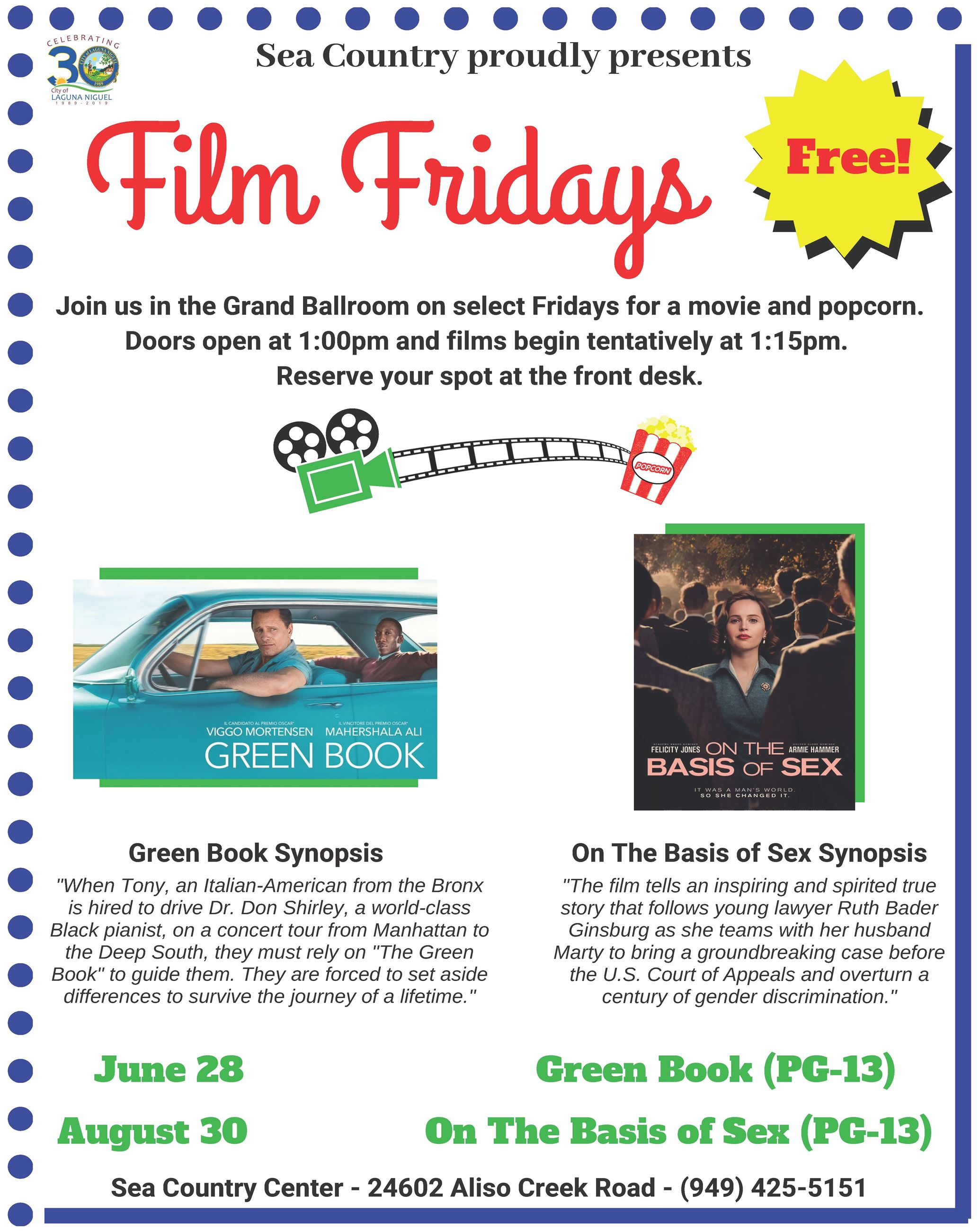 Film Fridays Summer 2019