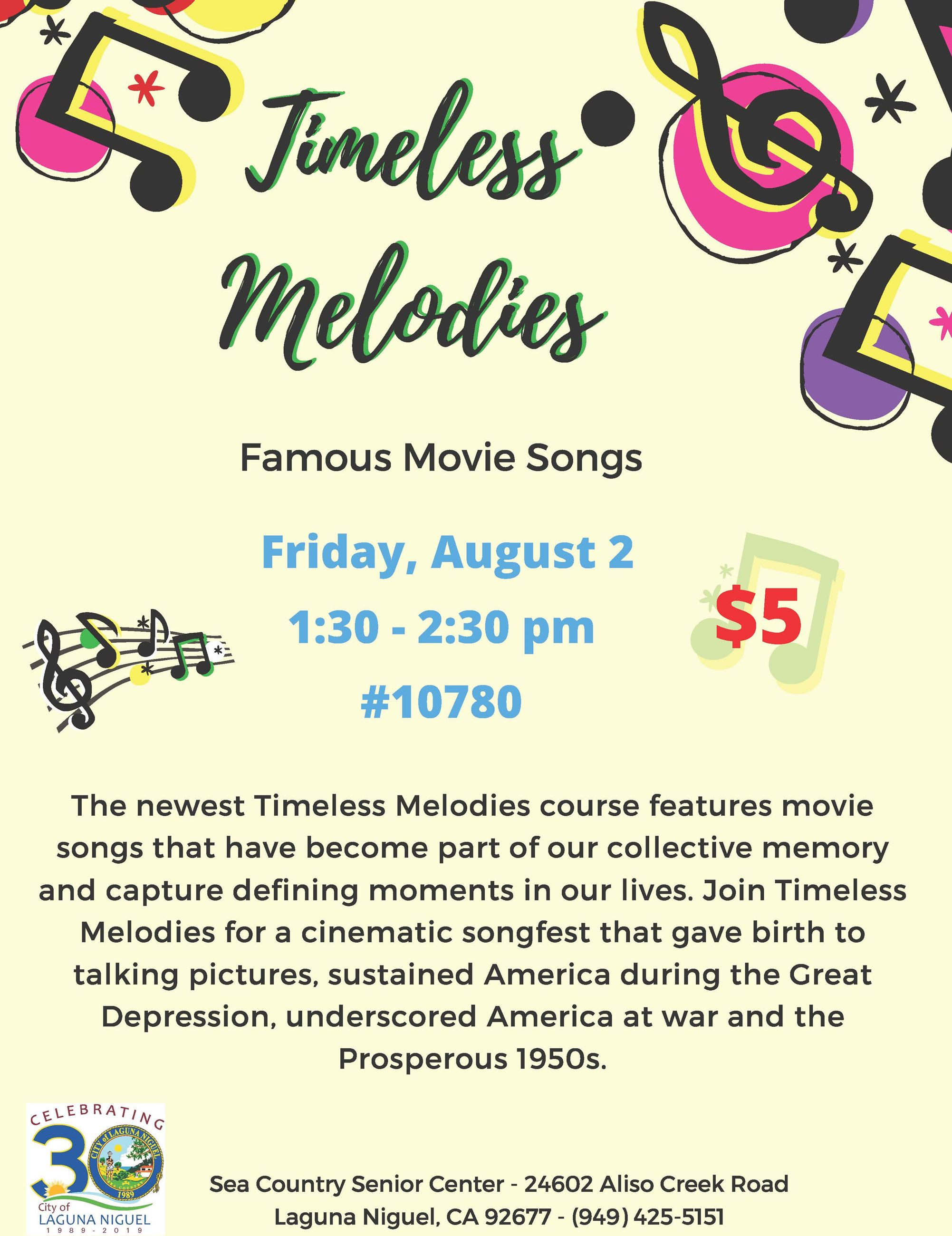 Timeless Melodies August 2019