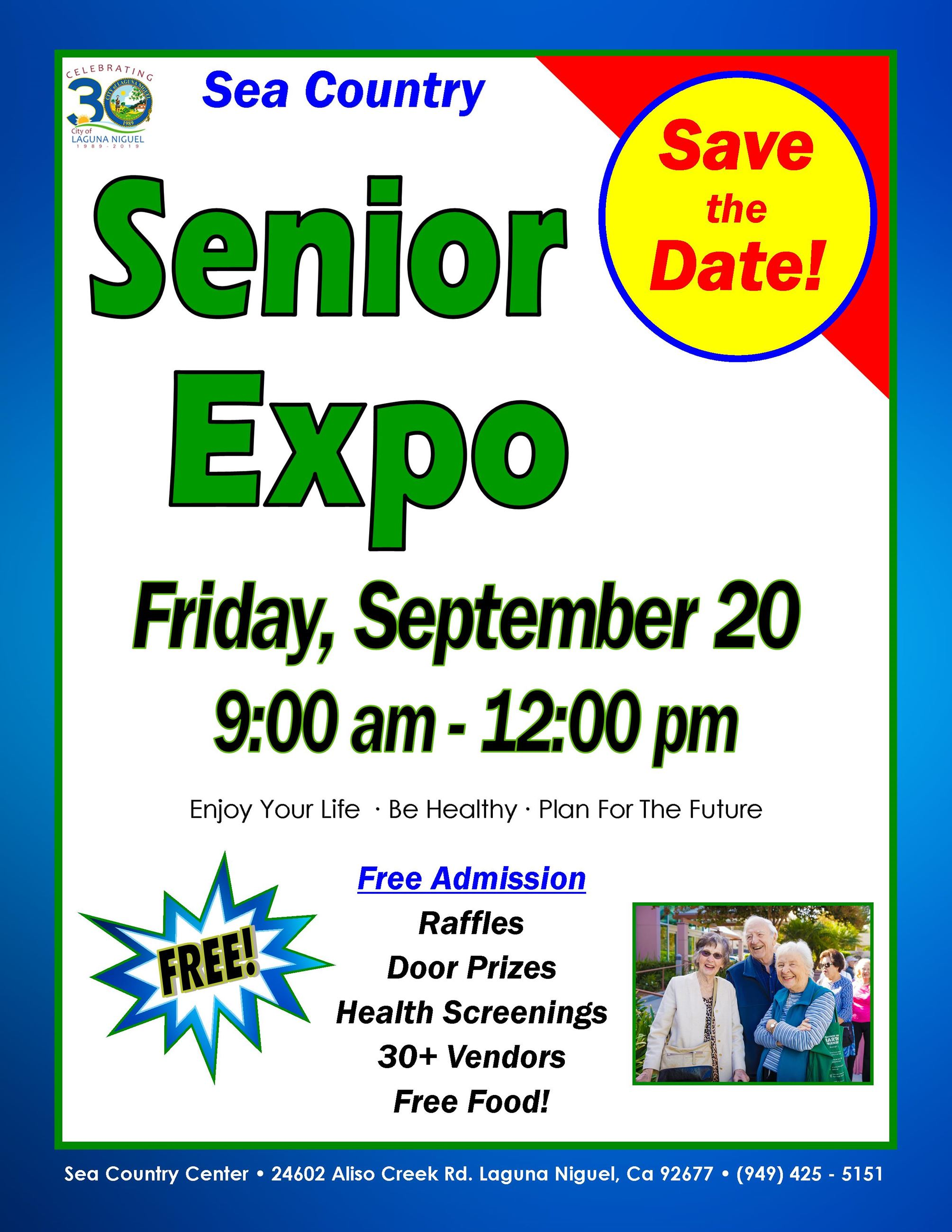 Senior Expo Save the Date 2019