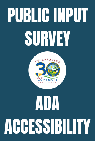 Graphic for ADA Public Input Survey News Carousel Post