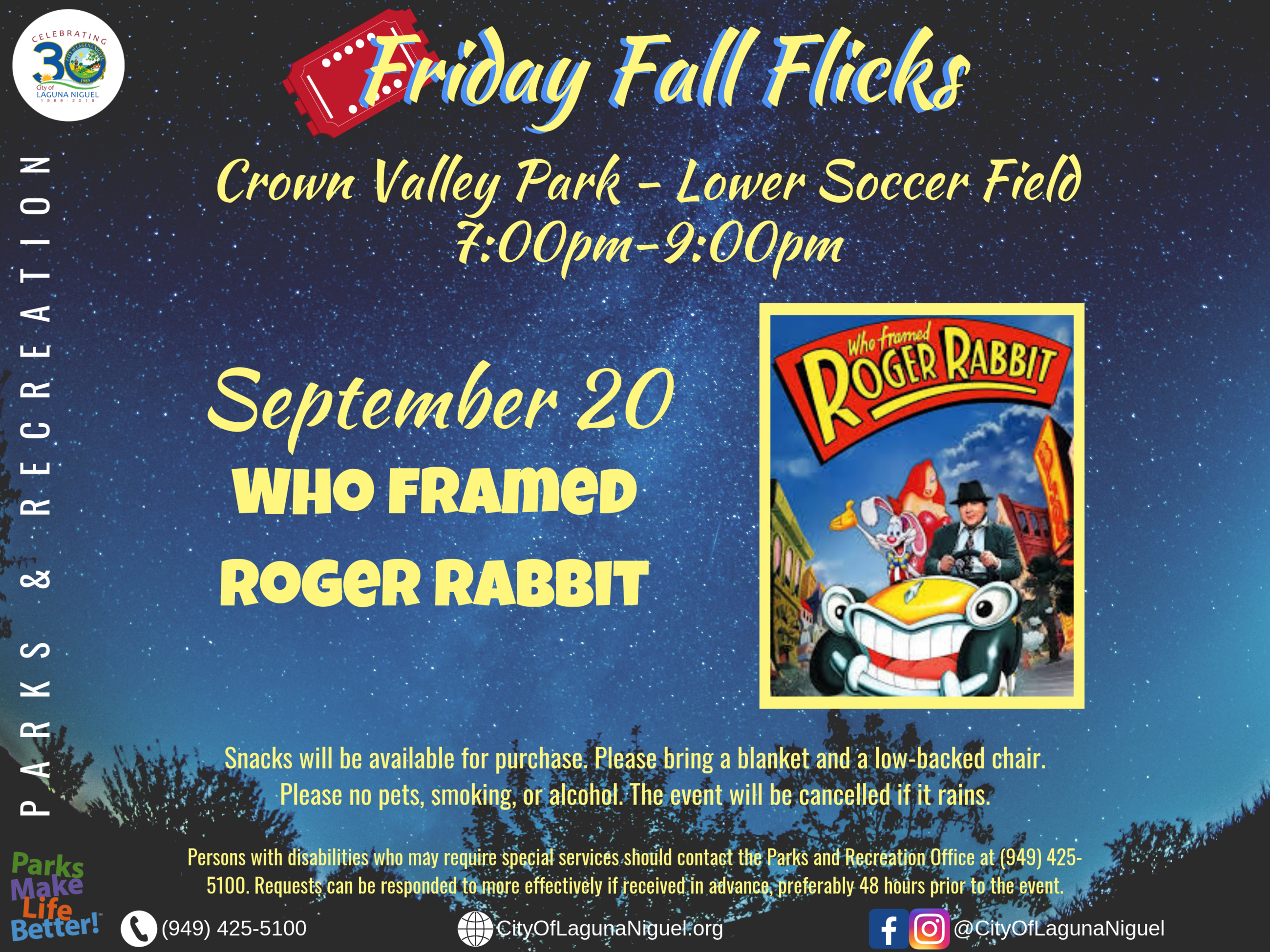 Fall Flicks Roger Rabbit 2019
