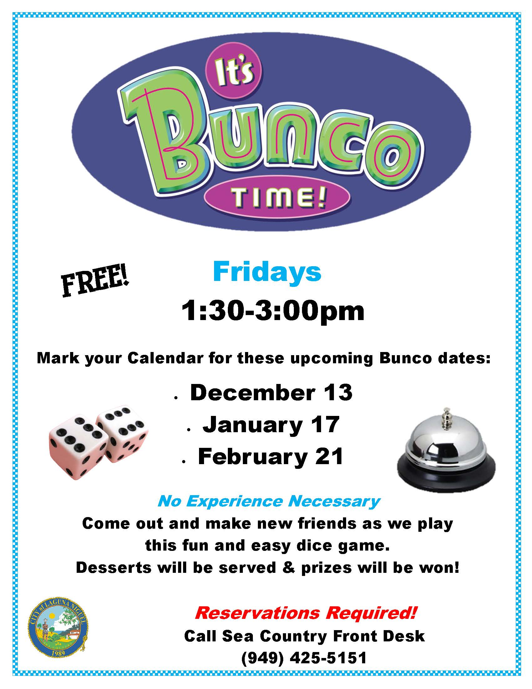 Bunco Flyer Winter 2019-2020