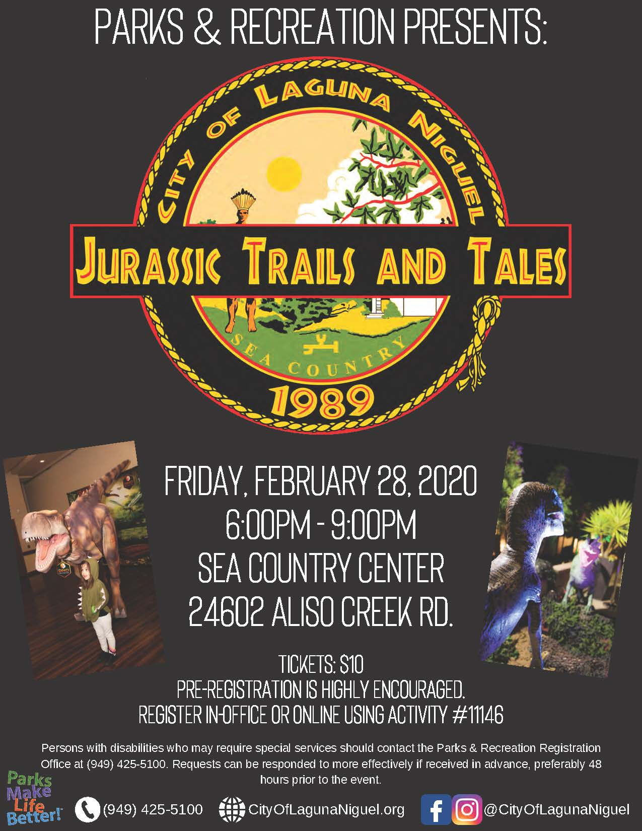 Family  Fun Night-Jurassic Trails and Tales 2020