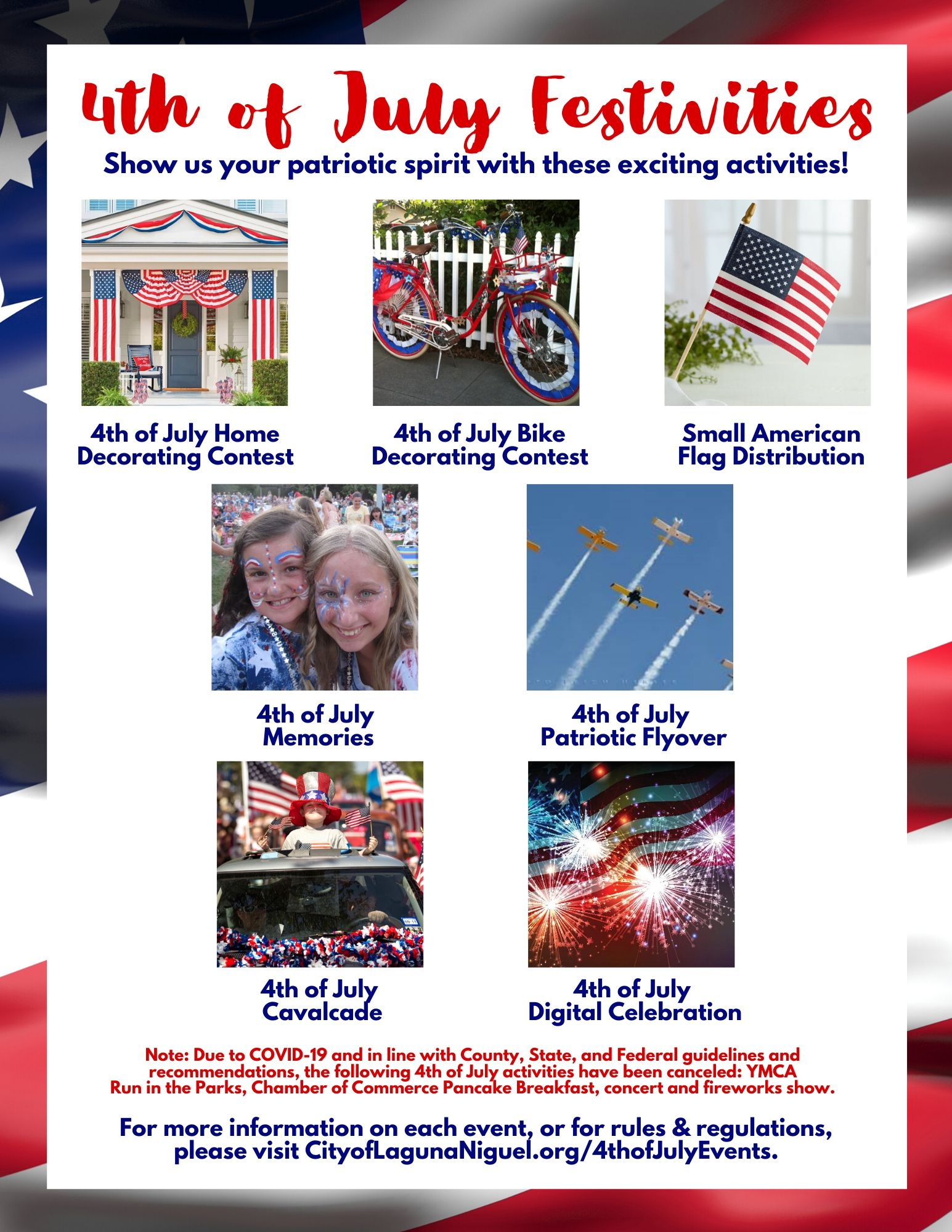 4th of July Festivities Flyer