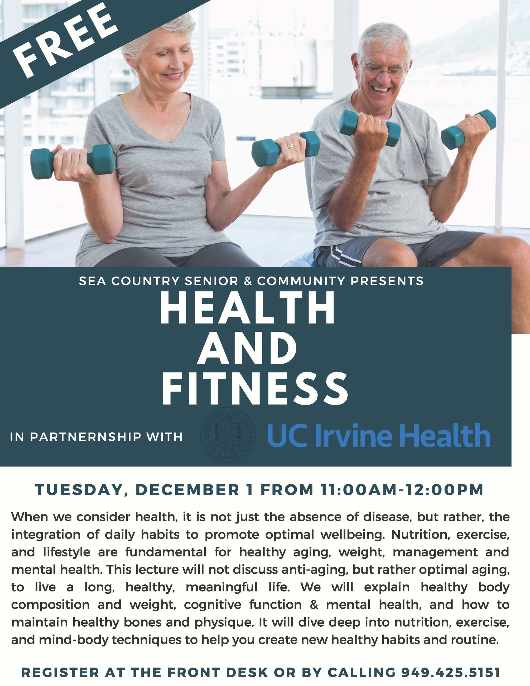 Winter 2020Lecture Flyer - Health and Fitness