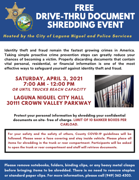 Shred Event April 3 2021