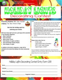 holiday decorating contest flyer the city of laguna niguel website - Christmas Decorating Contest